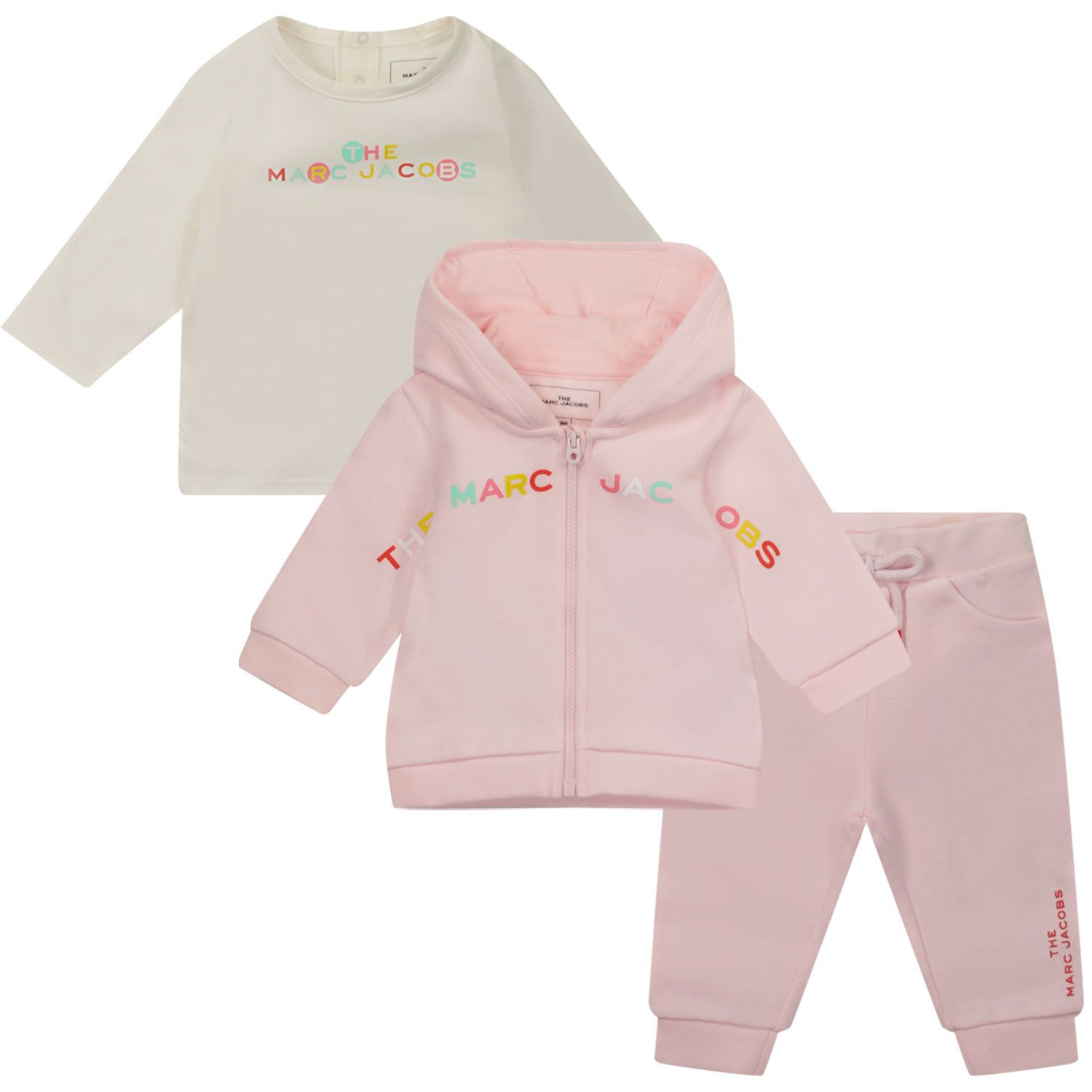 Picture of Marc Jacobs W98137 M baby sweatsuit light pink