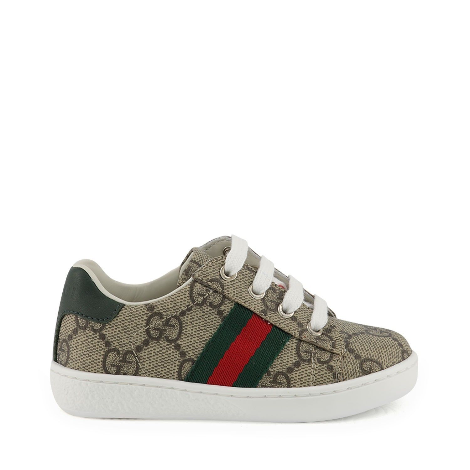 Picture of Gucci 433147 kids sneakers beige