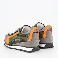 Afbeelding van Dsquared2 62384 kindersneakers groen/oranje