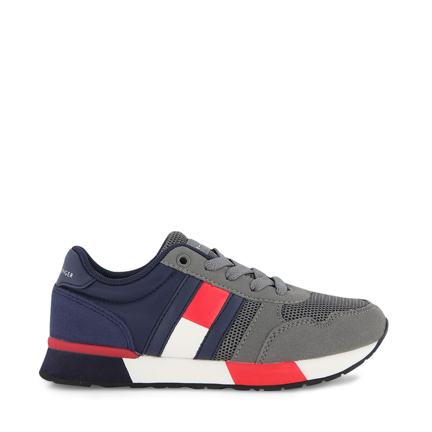 Picture of Tommy Hilfiger 30933 kids sneakers grey