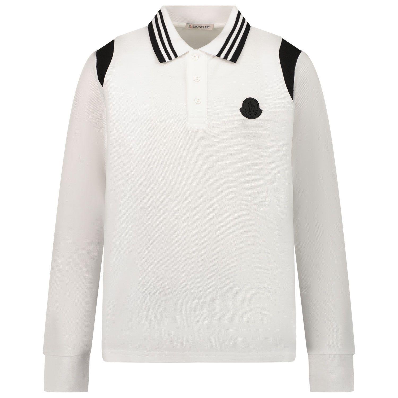 Bild von Moncler 8B71220 Kinder-Poloshirt Creme