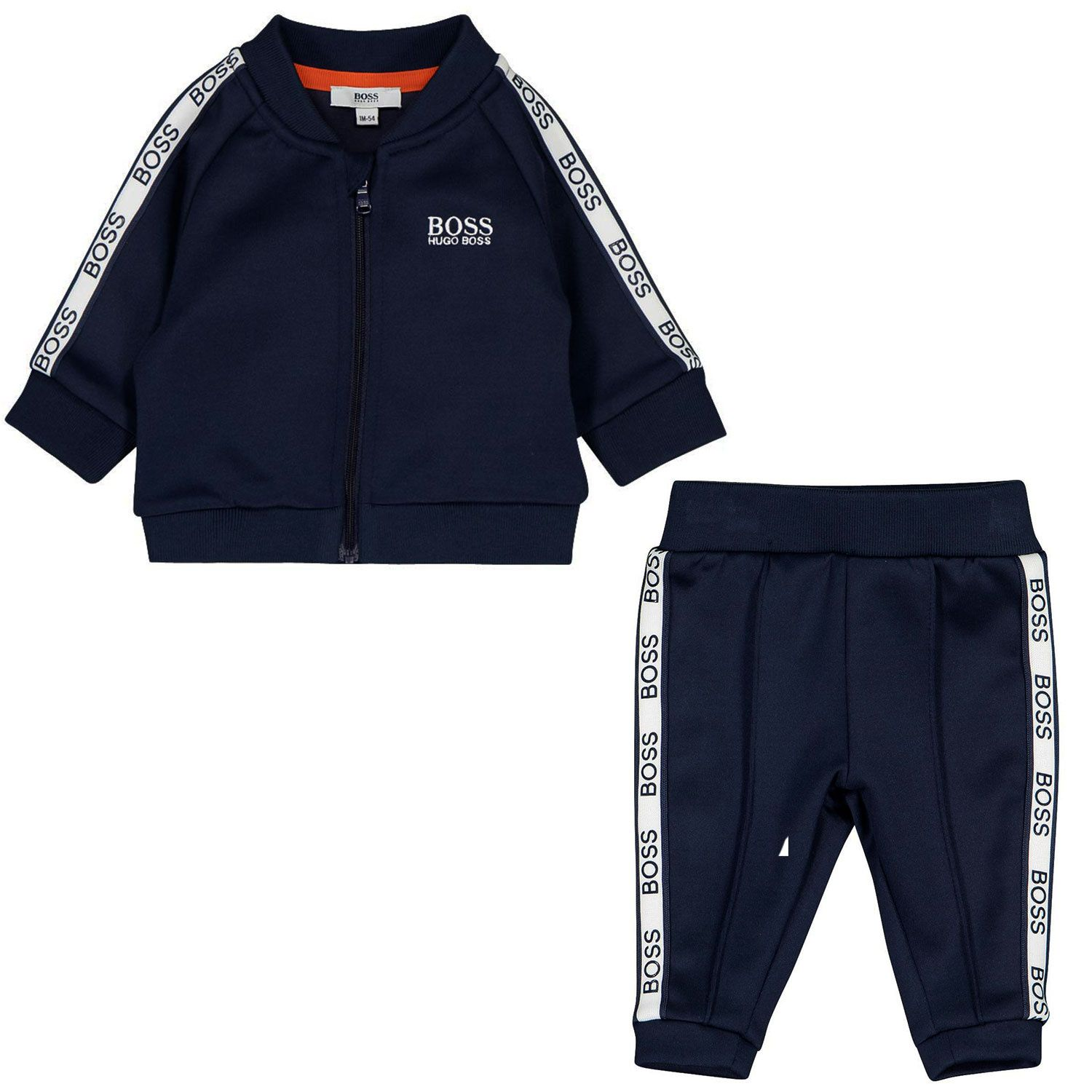 Picture of Boss J98288 baby sweatsuit navy