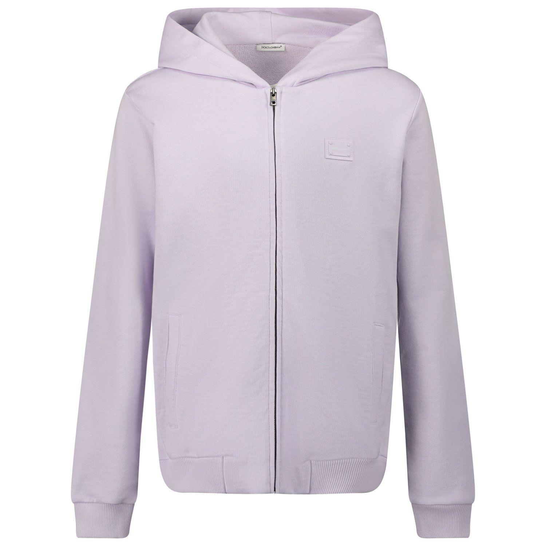 Picture of Dolce & Gabbana L4JW2V G7OLJ kids vest lilac