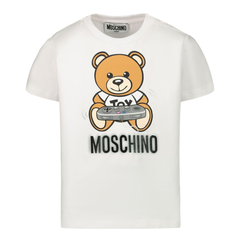 Afbeelding van Moschino MPM02A baby t-shirt off white