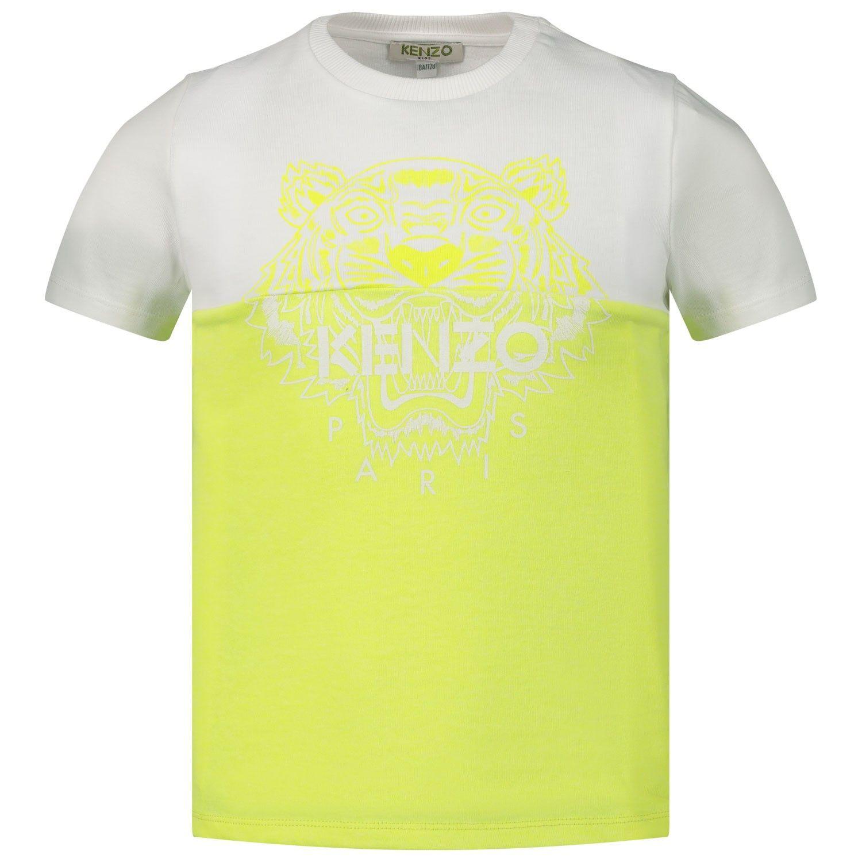 Afbeelding van Kenzo 10688 kinder t-shirt fluor geel