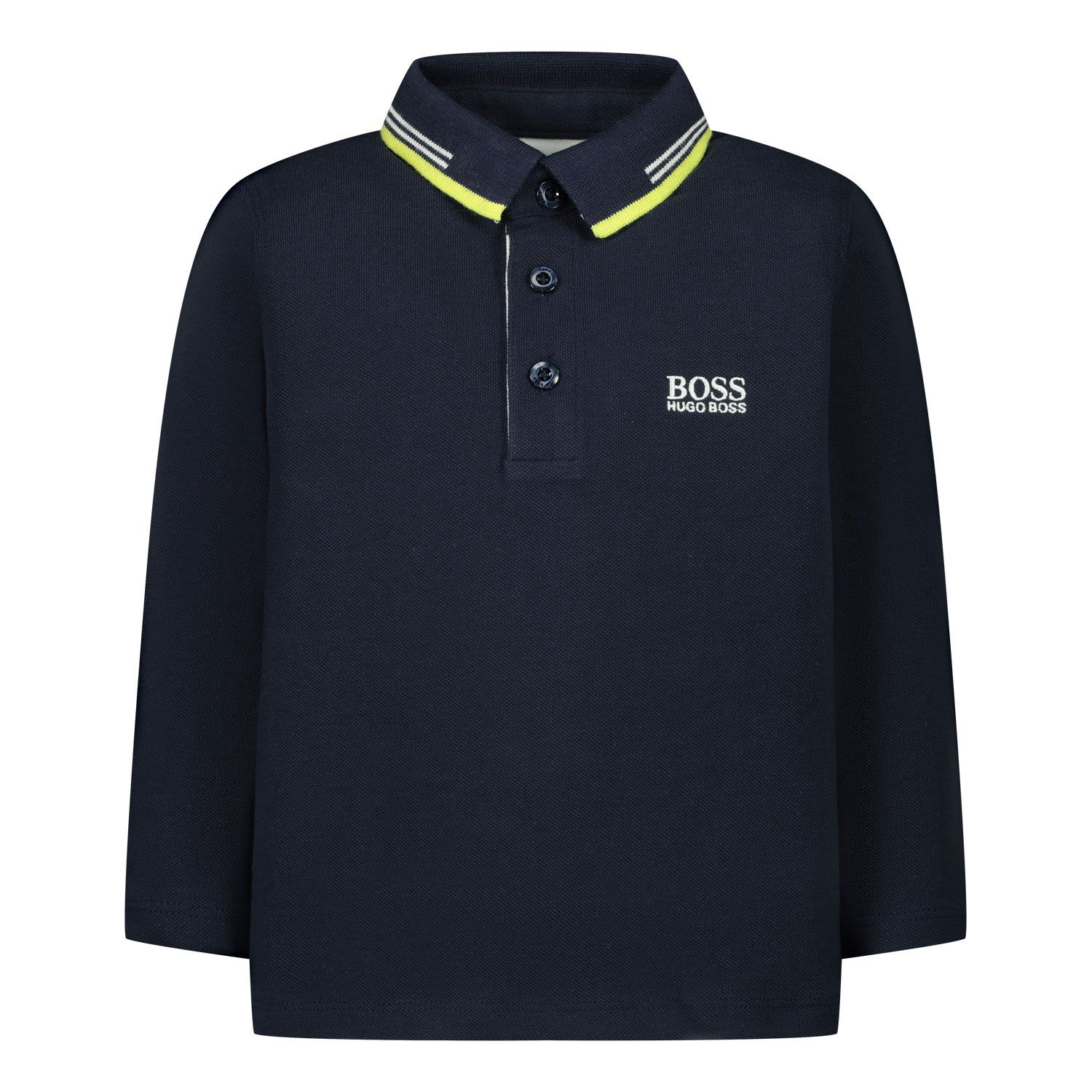 Picture of Boss J05803 baby poloshirt navy
