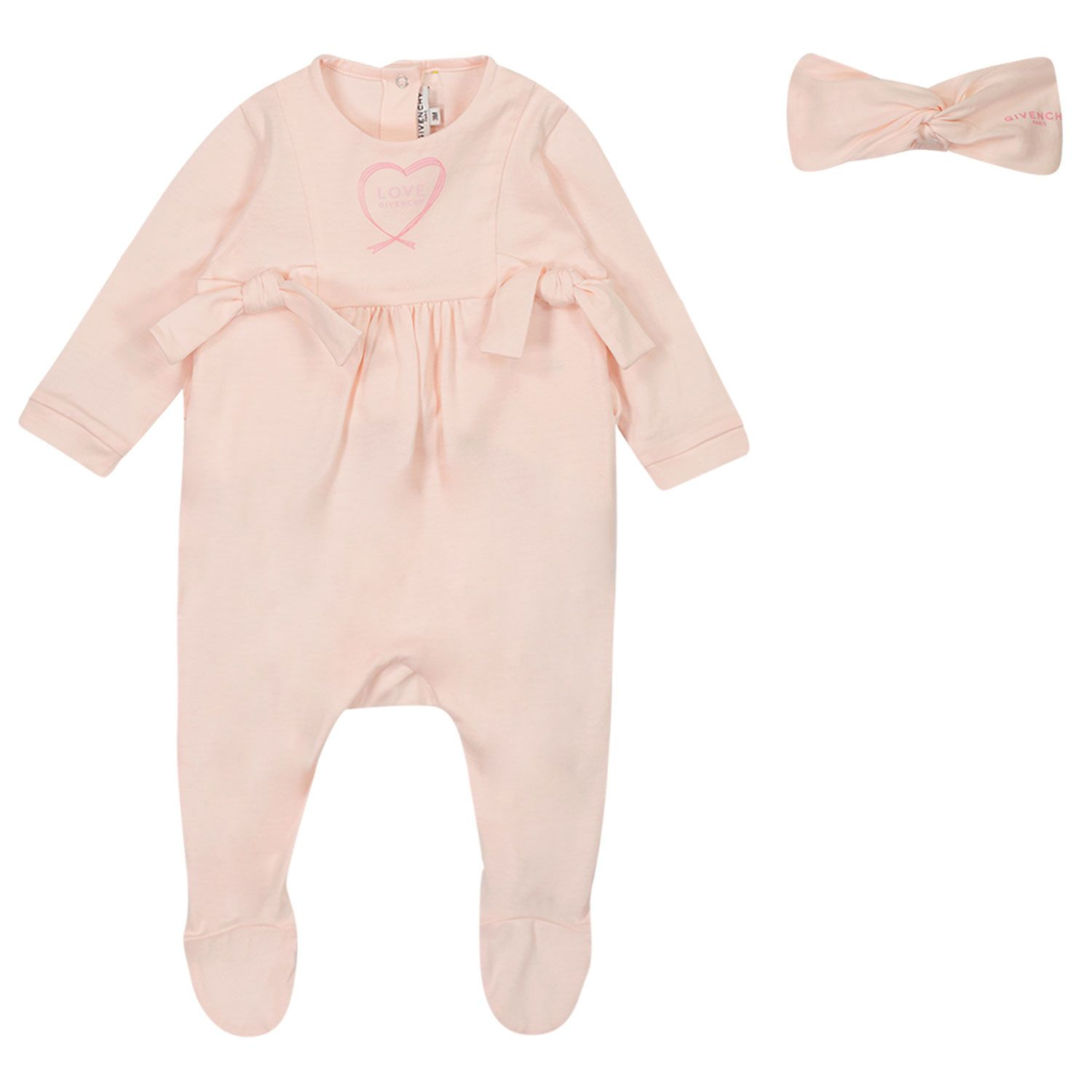 Picture of Givenchy H98108 baby playsuit light pink
