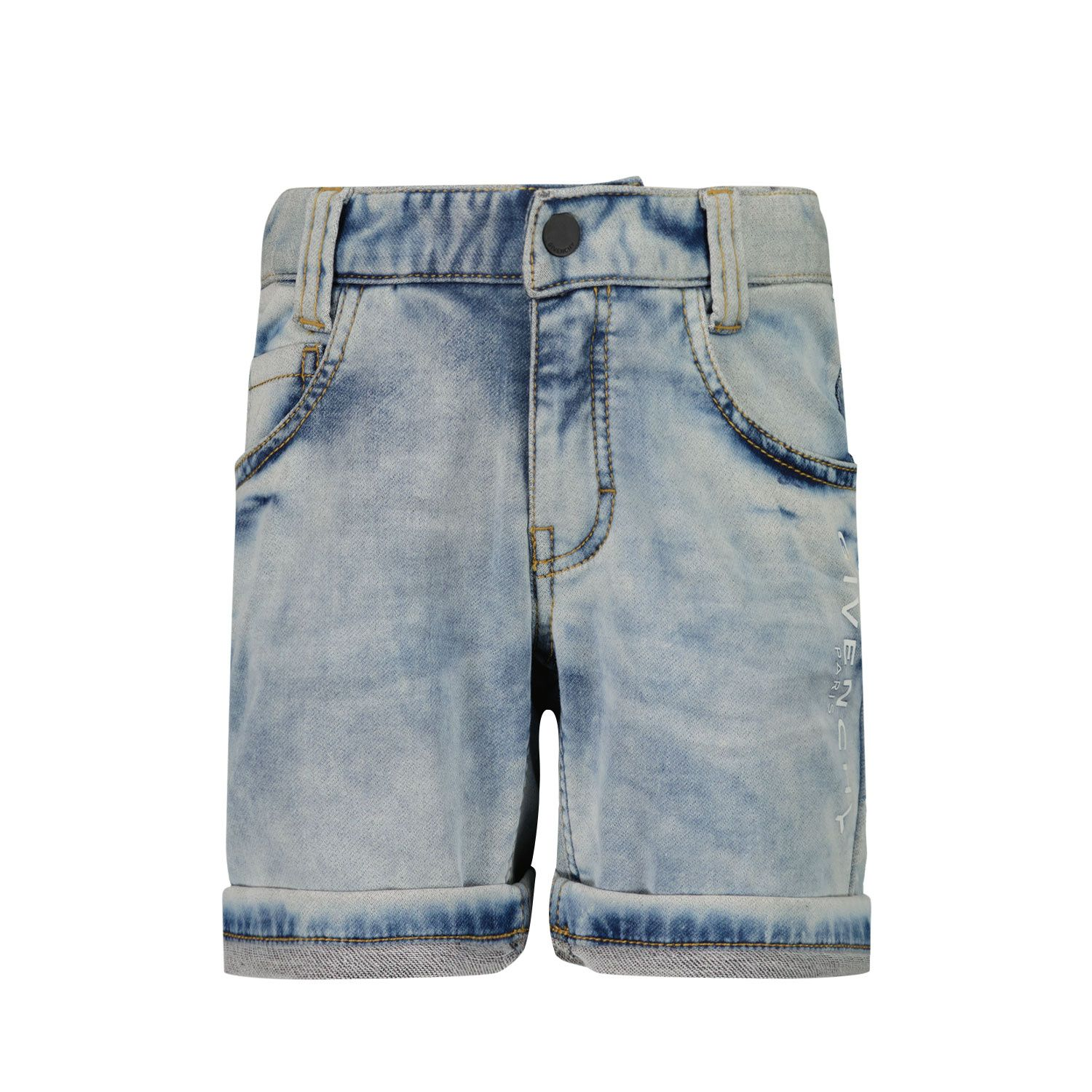 Picture of Givenchy H04100 baby shorts jeans