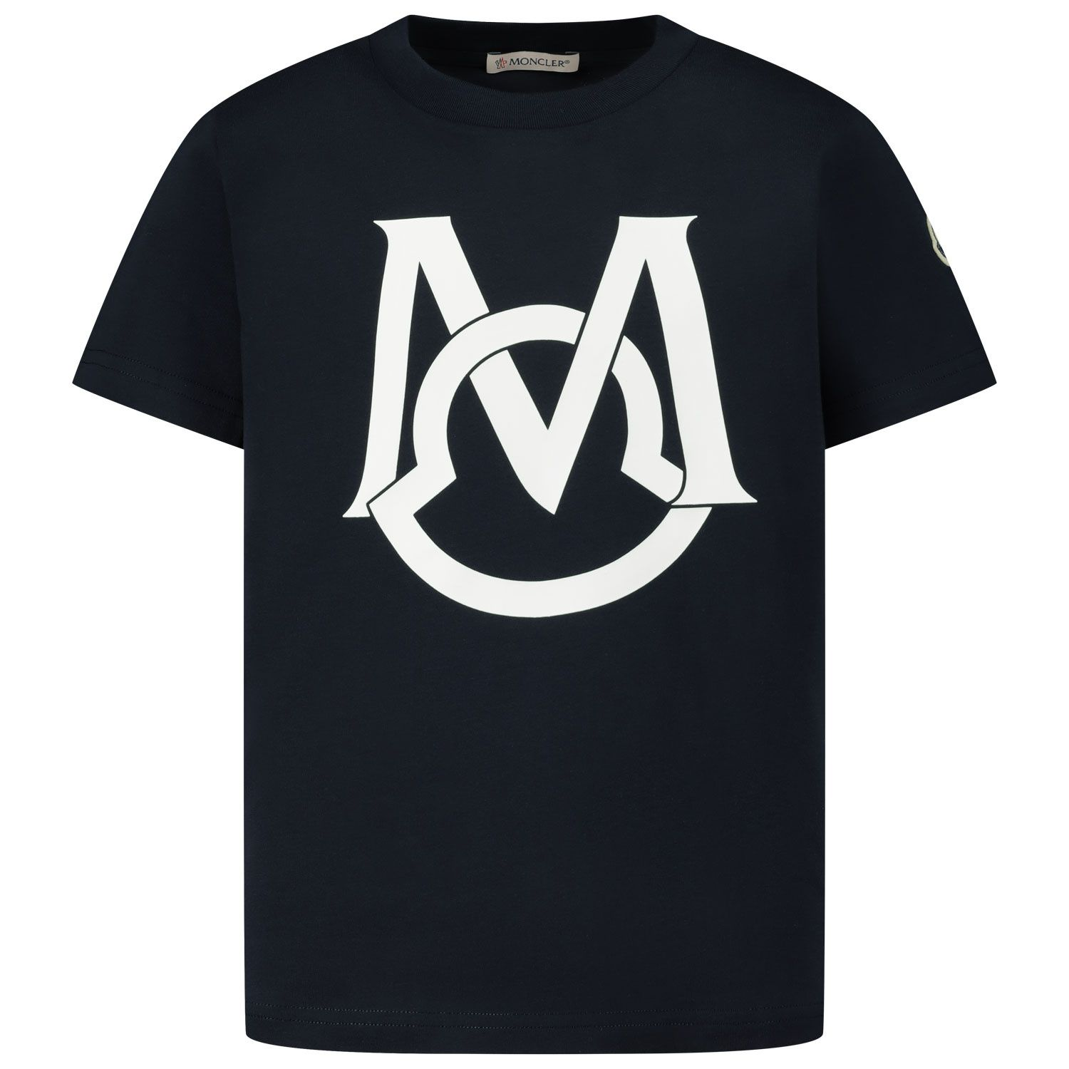 Picture of Moncler 8C74220 kids t-shirt navy