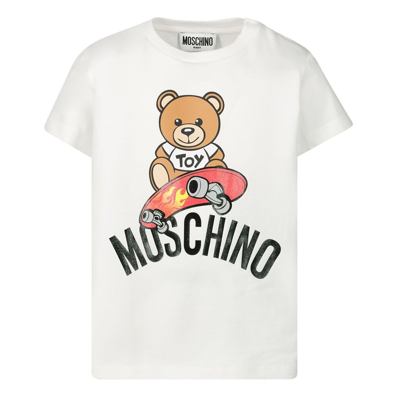 Bild von Moschino MUM02A Baby-T-Shirt Weiß