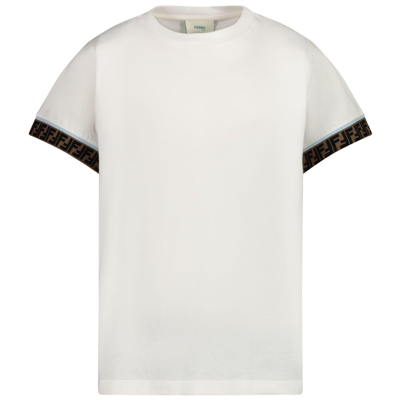 Afbeelding van Fendi JUI018 kinder t-shirt wit
