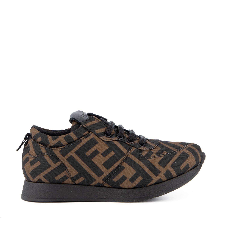 Picture of Fendi JMR339 kids sneakers brown