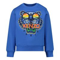 Picture of Kenzo KR15547 baby sweater cobalt blue