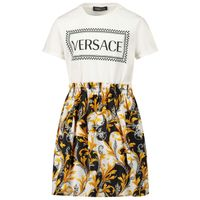 Picture of Versace YC000413 kids dress white