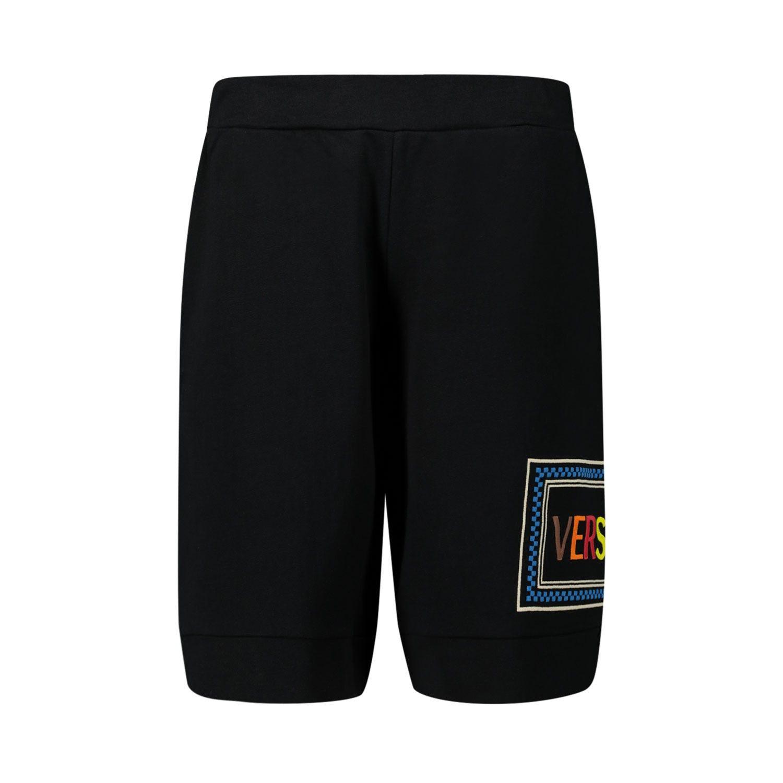 Afbeelding van Versace YD000186 kinder shorts zwart