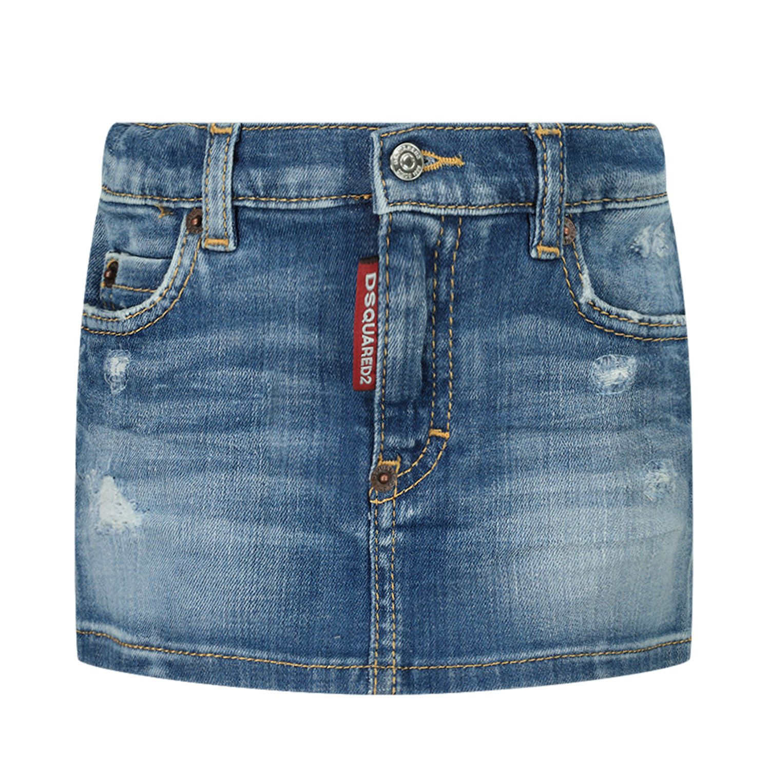 Picture of Dsquared2 DQ03KN baby skirt jeans