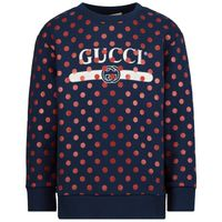 Picture of Gucci 612189 kids sweater navy
