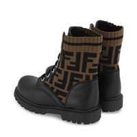 Picture of Fendi JMR382 kids boots brown