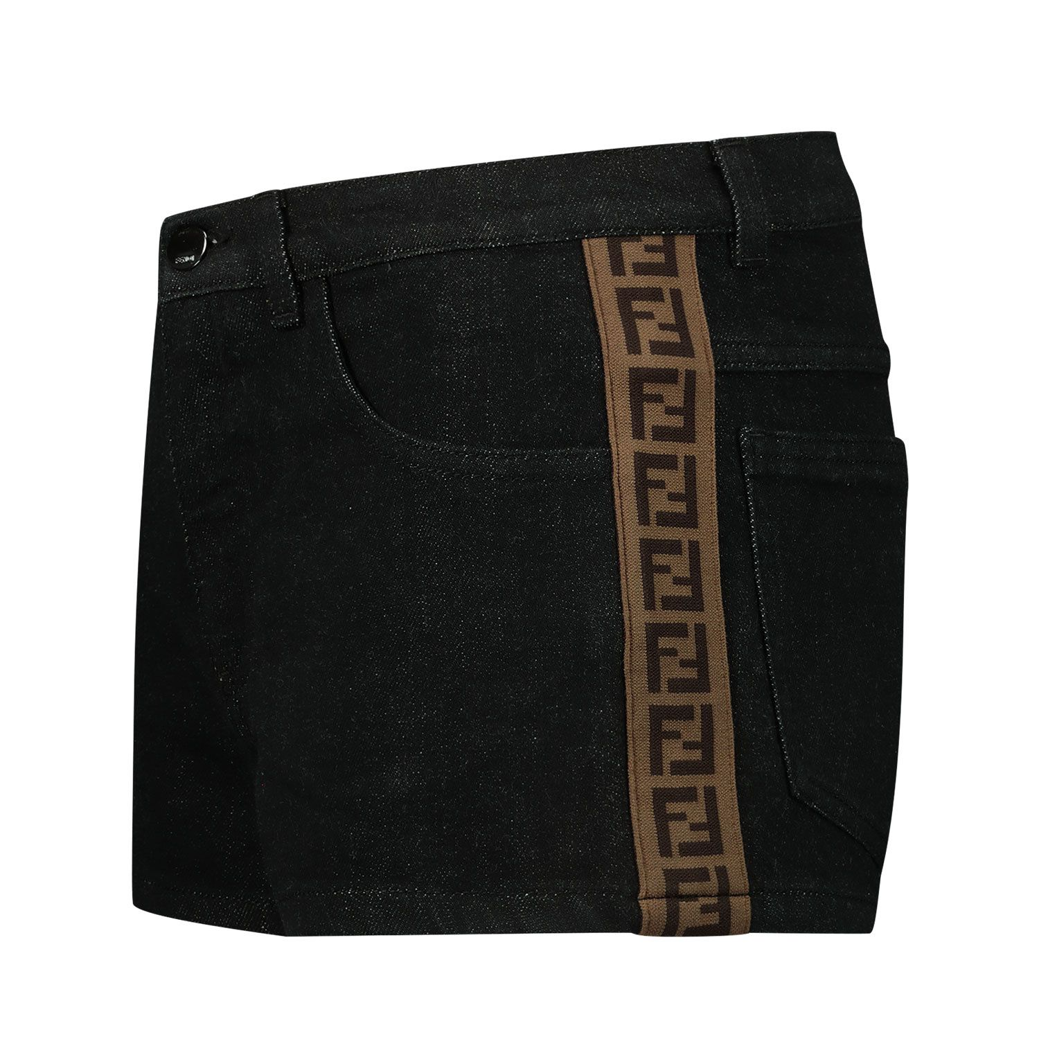 Picture of Fendi JFF224 AEXN kids shorts black