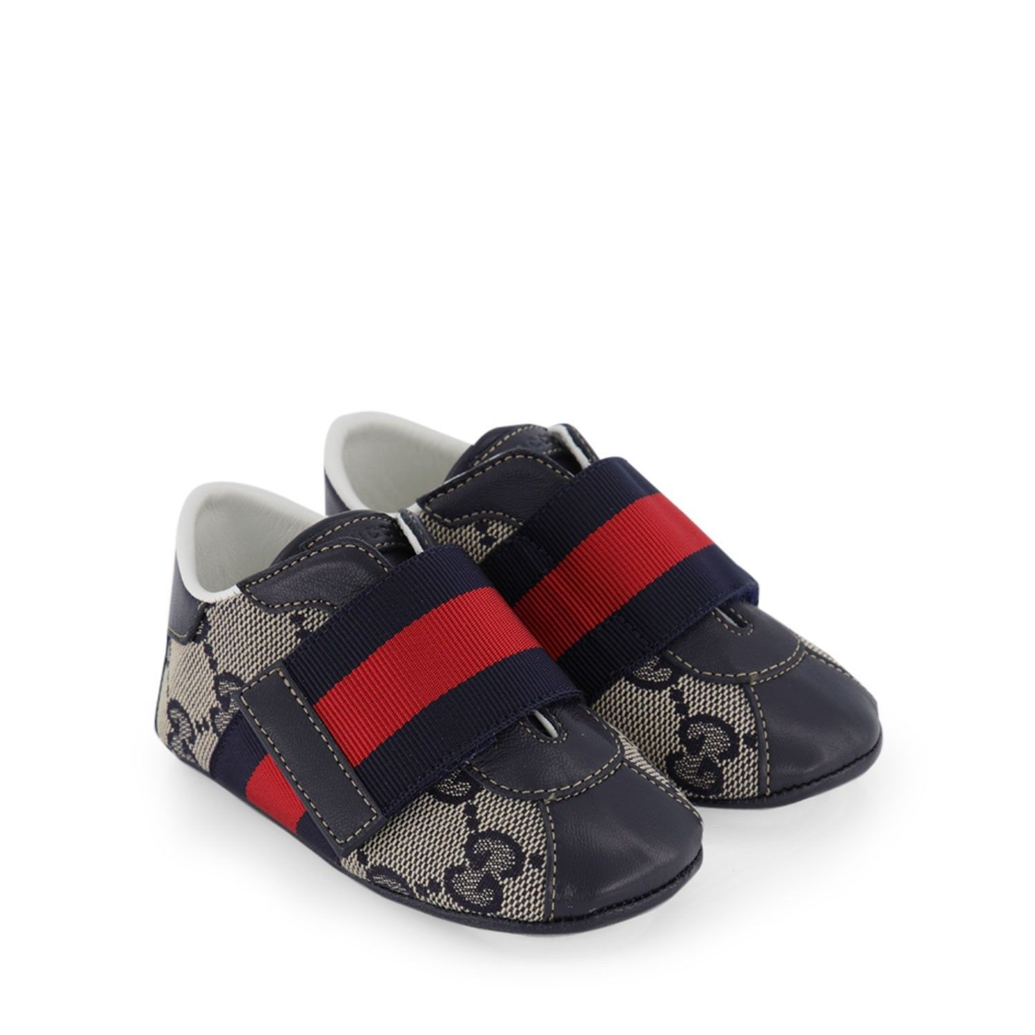 Picture of Gucci 285206 baby shoes navy