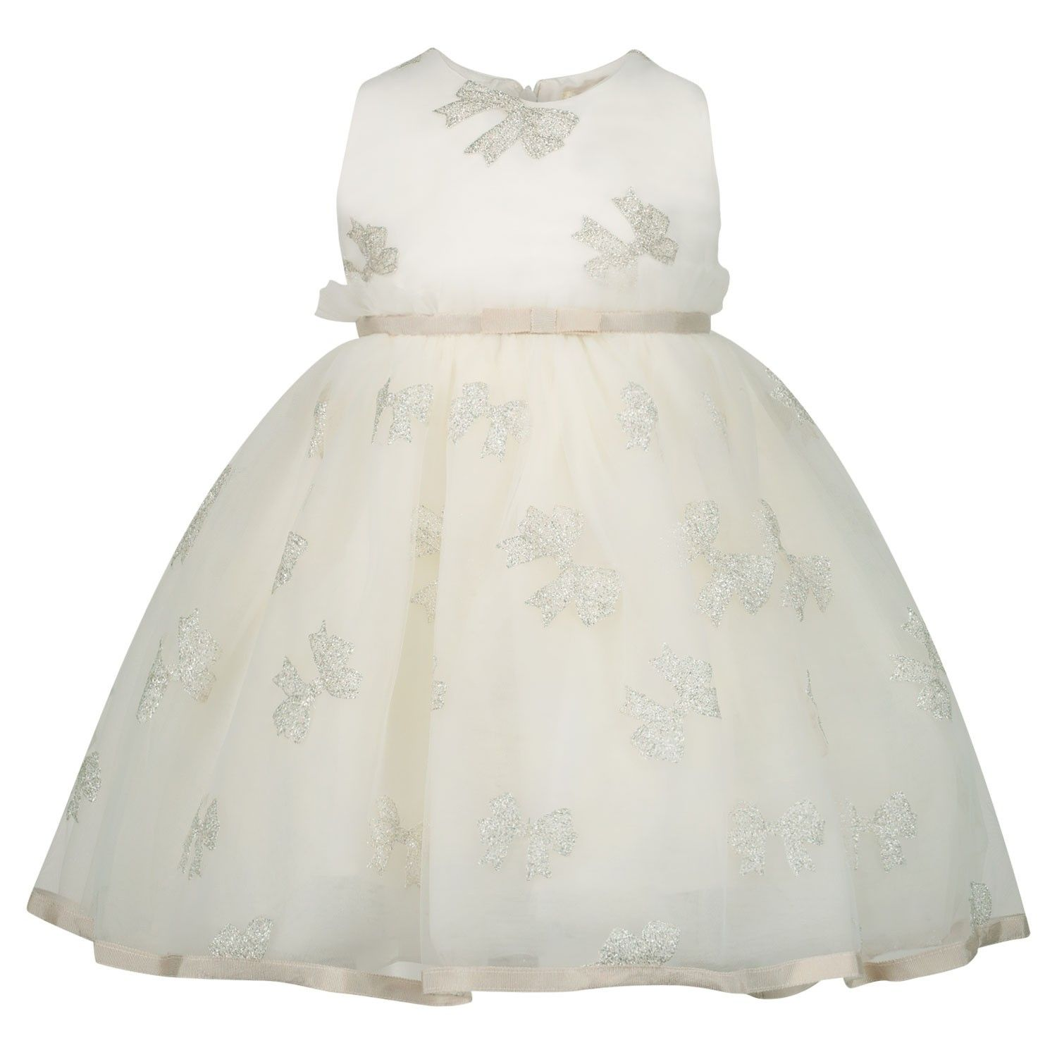 Picture of MonnaLisa 735904 baby dress off white