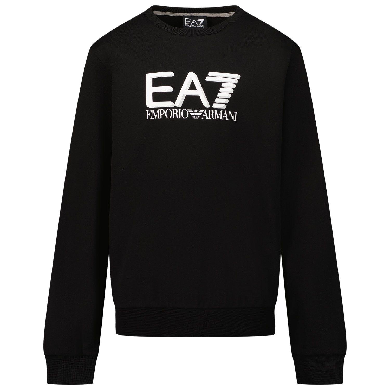 Picture of EA7 6KBM55 kids sweater black