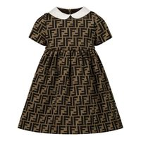 Picture of Fendi BFB340 A6A6 baby dress brown