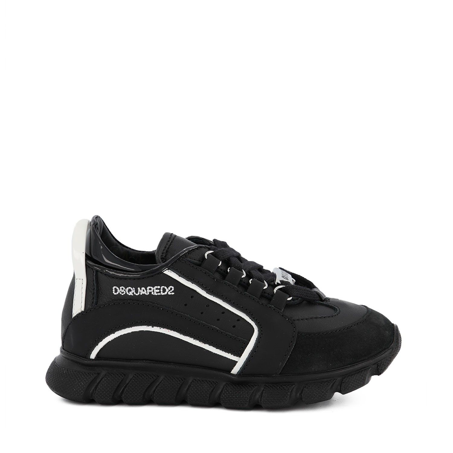 Picture of Dsquared2 63449 kids sneakers black