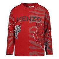 Picture of Kenzo K05115 baby shirt dark red