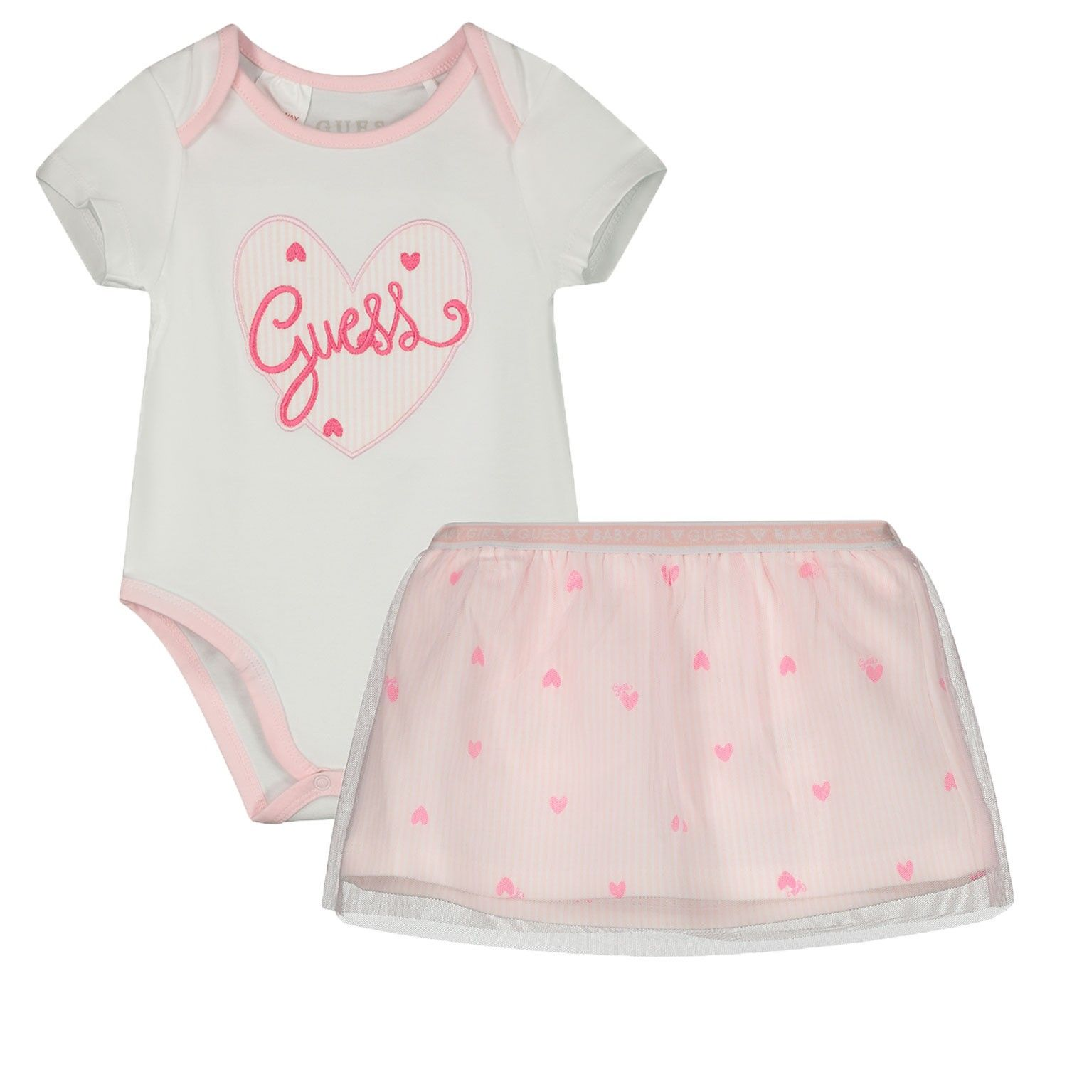 Picture of Guess S02G05 baby set white