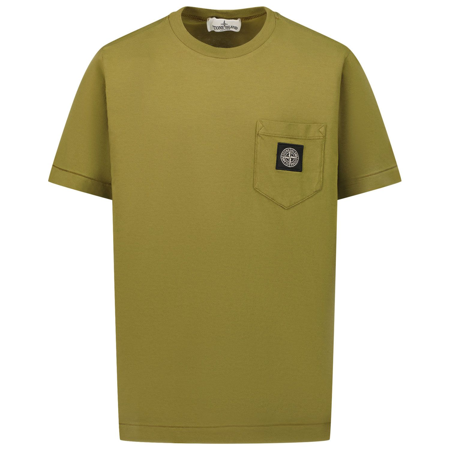 Picture of Stone Island 20347 kids t-shirt olive green