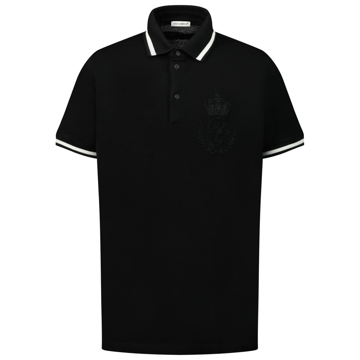 Picture of Dolce & Gabbana L4JT8V / G7VED kids polo shirt black