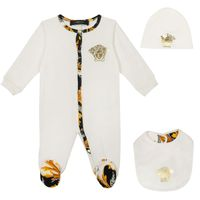 Picture of Versace YE000207 baby playsuit off white