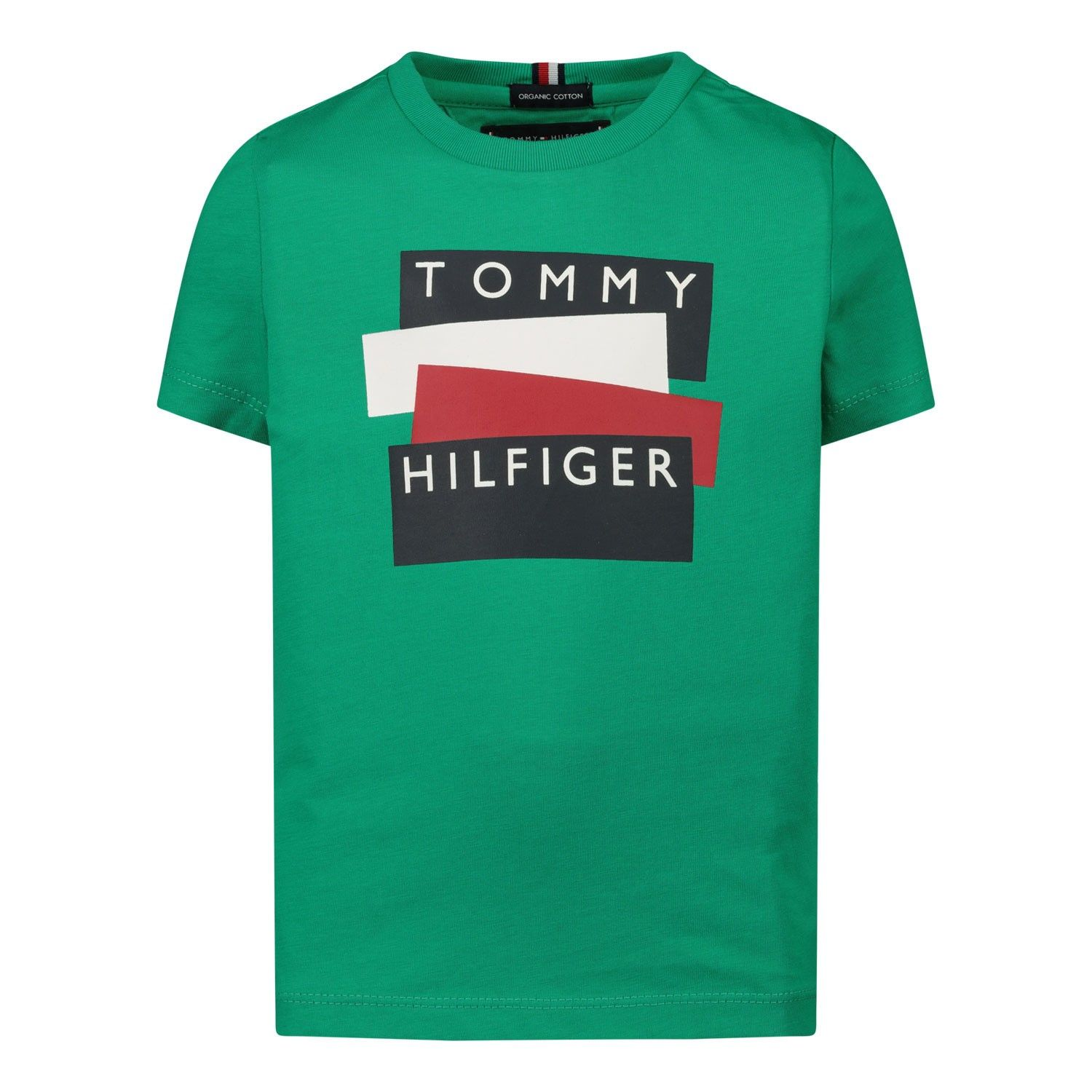 Picture of Tommy Hilfiger KB0KB05849B baby shirt green