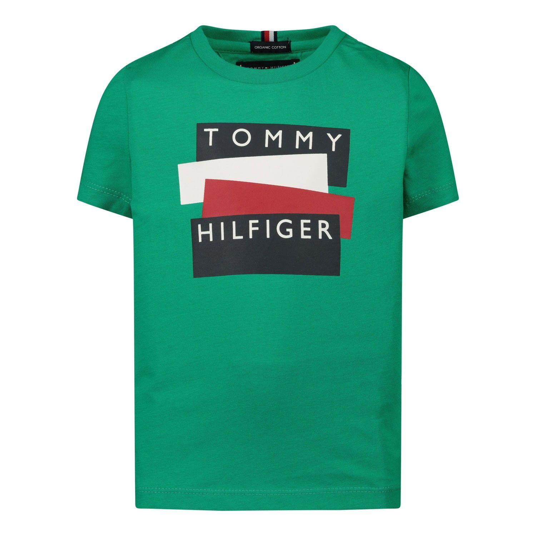 Afbeelding van Tommy Hilfiger KB0KB05849B baby t-shirt groen