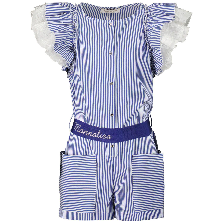 Picture of MonnaLisa 117201A1 kids jumpsuit blue