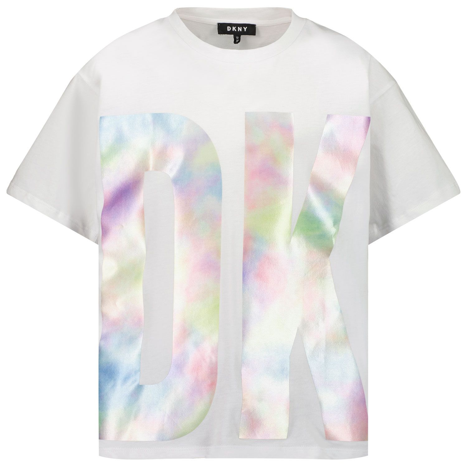 Picture of DKNY D35R52 kids t-shirt white