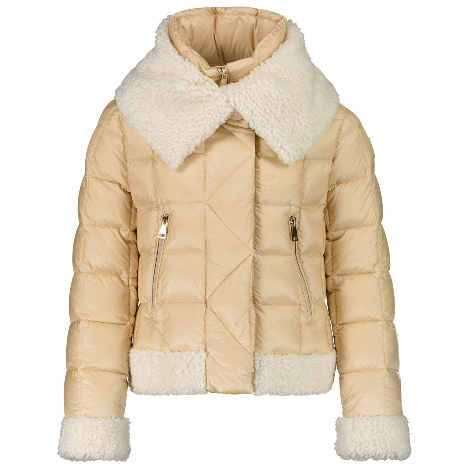 Picture of Moncler 1A54B10 kids jacket beige