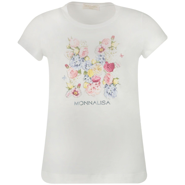 Afbeelding van MonnaLisa 715610S7 kinder t-shirt off white