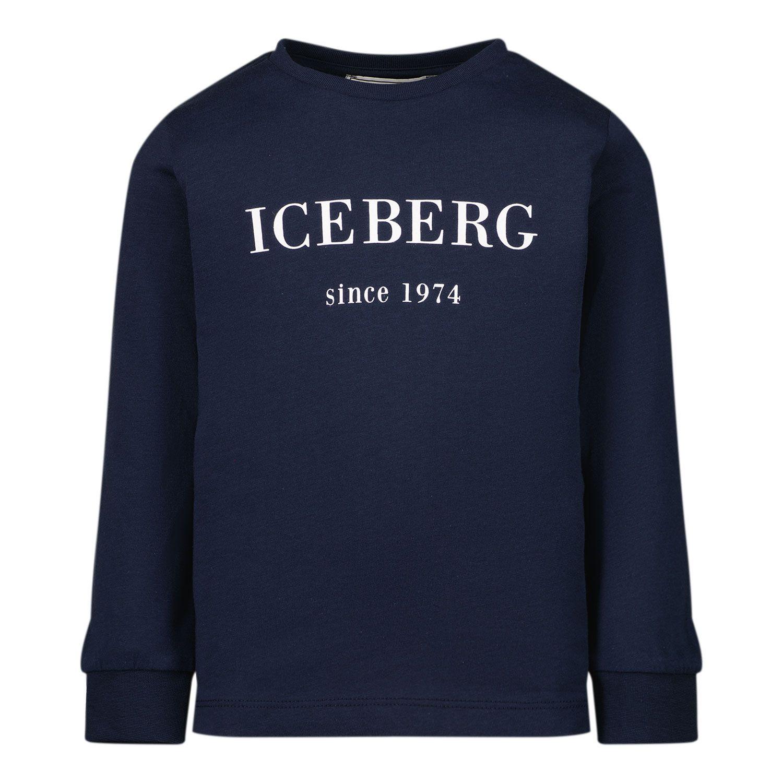 Picture of Iceberg TSICE2300B baby shirt navy