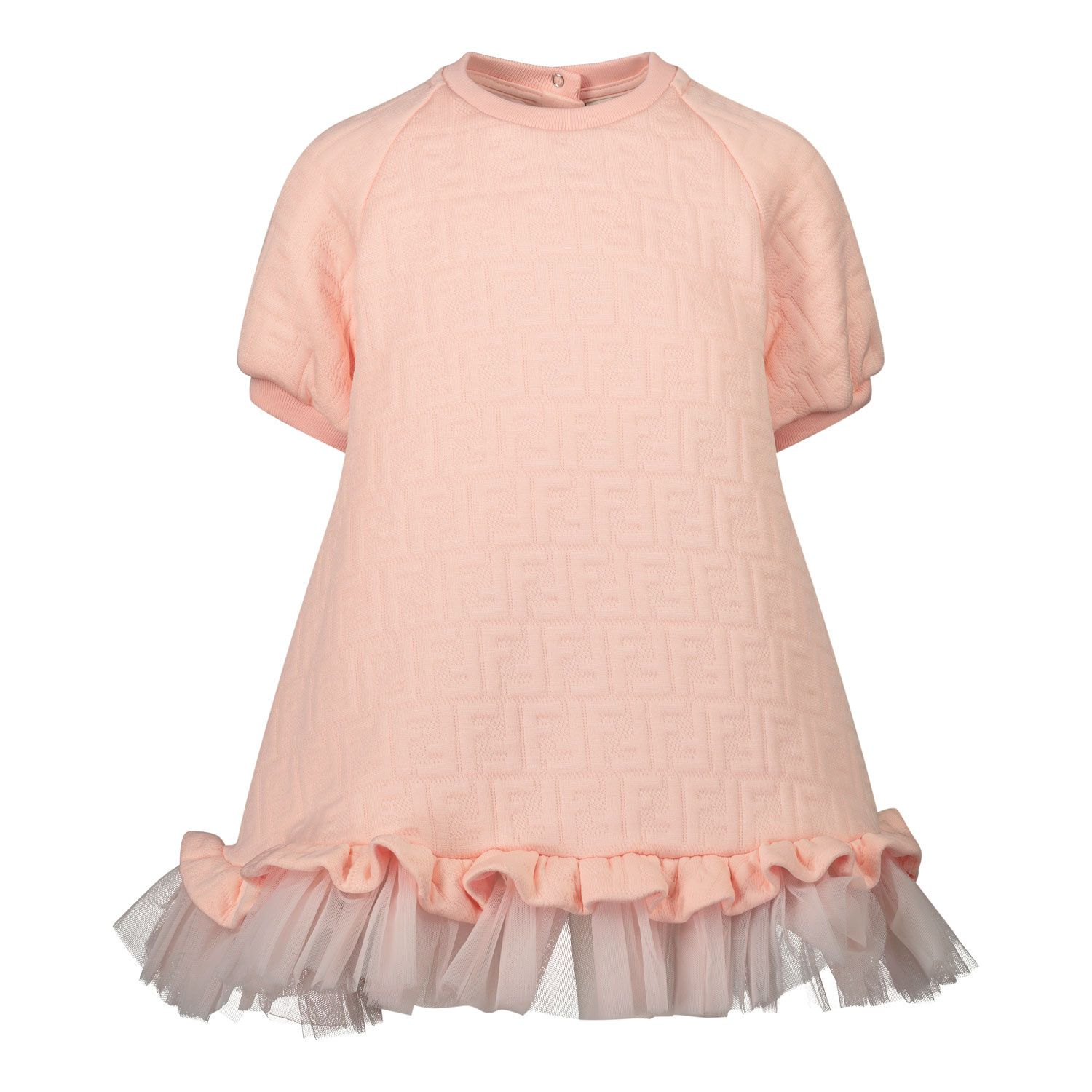 Picture of Fendi BFB332 baby dress light pink