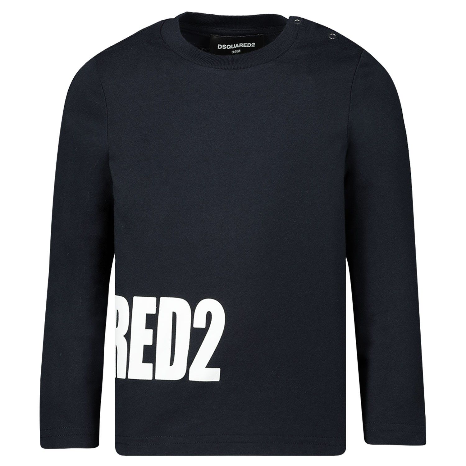 Picture of Dsquared2 DQ03ND baby shirt navy