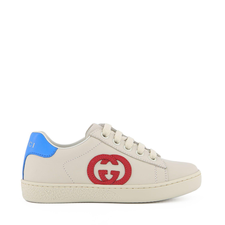 Afbeelding van Gucci 647071 kindersneakers off white