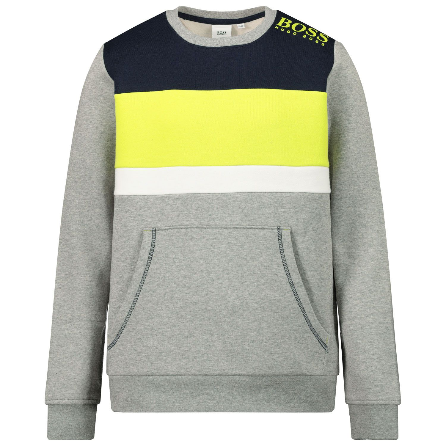 Picture of Boss J25G73 kids sweater grey
