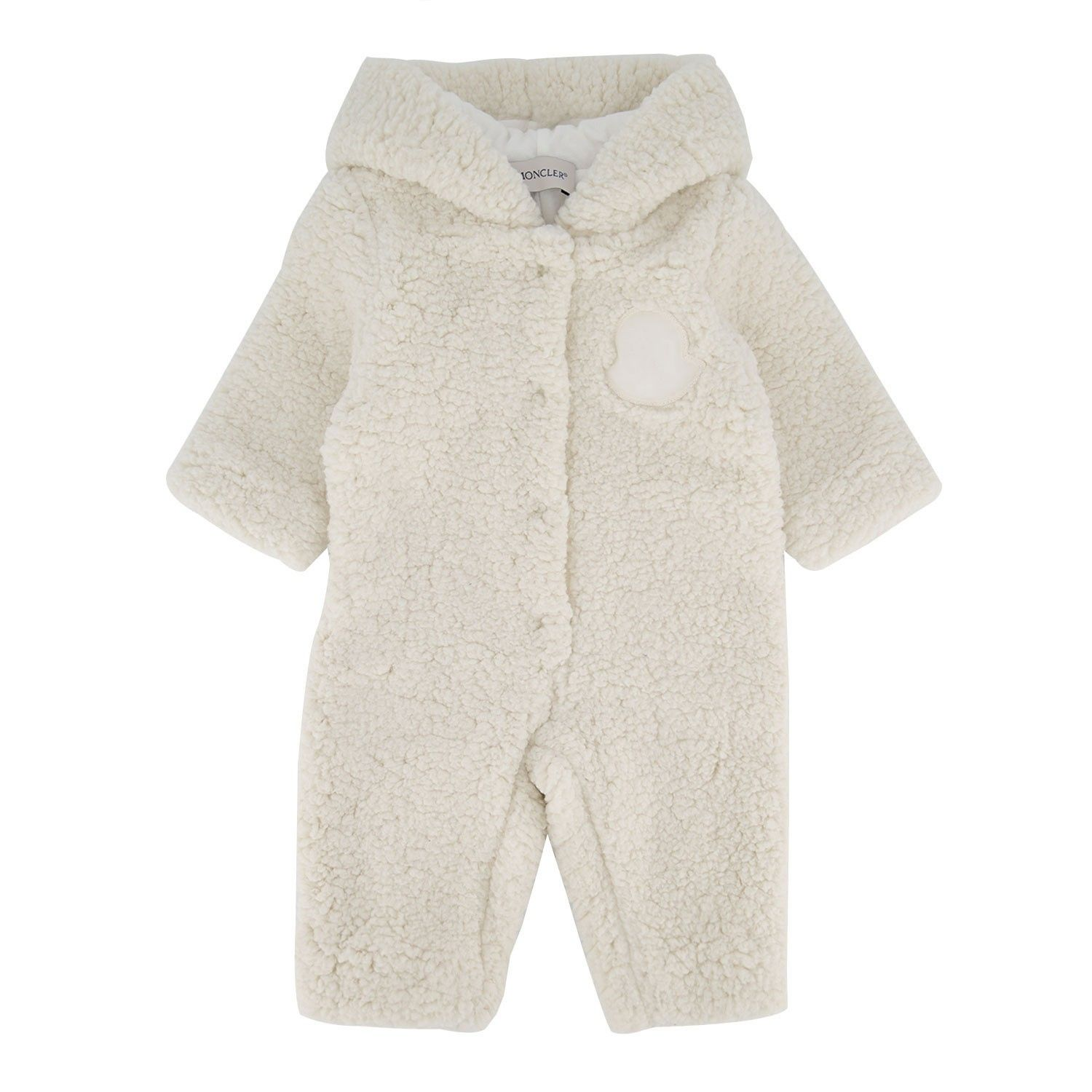 Picture of Moncler 8L71810 baby playsuit off white