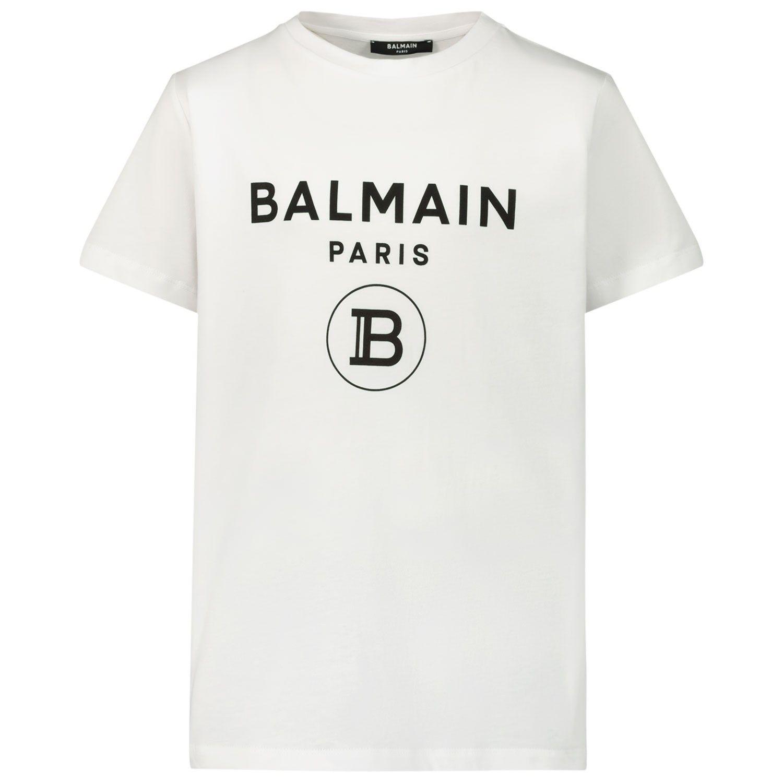 Afbeelding van Balmain 6M8701 kinder t-shirt wit