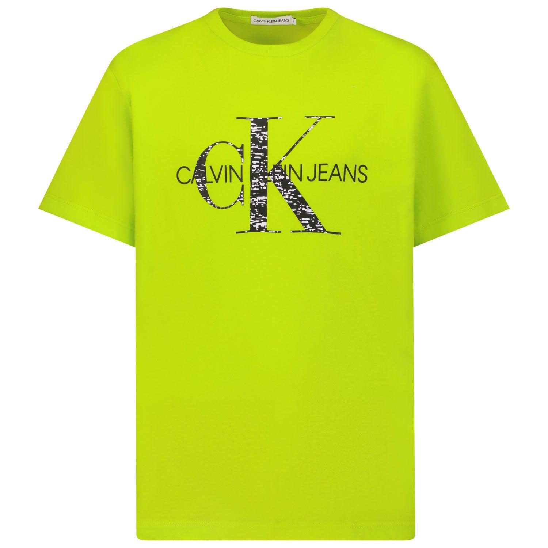 Bild von Calvin Klein IB0IB00999 Kindershirt Neongrün