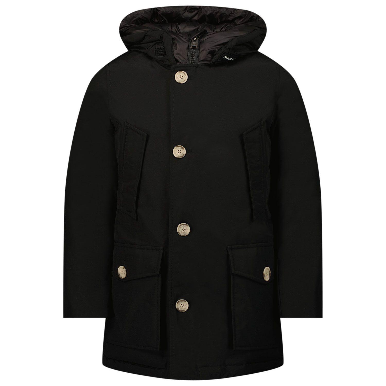 Picture of Woolrich CFWKOU0188 kids jacket black