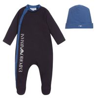 Picture of Armani 6HHV12 baby playsuit navy