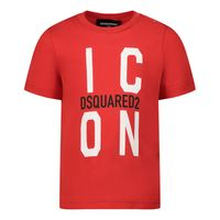 Picture of Dsquared2 DQ0242 baby shirt red
